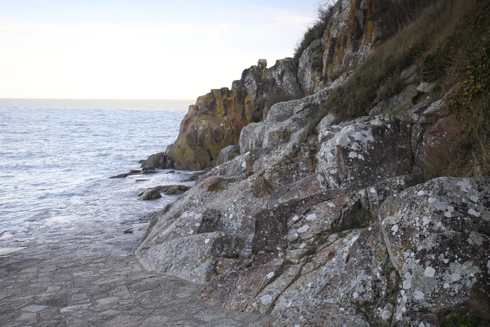 Rocky island by the sea.