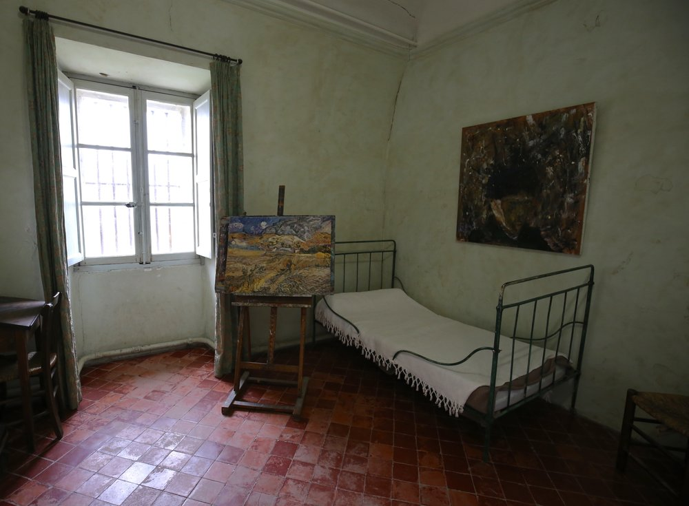Vincent Van Gogh's room at the asylum of Saint Remy, Provence.