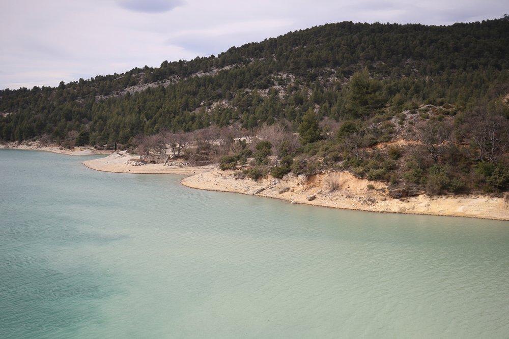 The Lake Sainte-Croix of the Verdon Gorge, France.