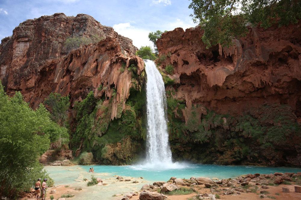 The gorgeous Havasu Falls of Havasupai in Spring.