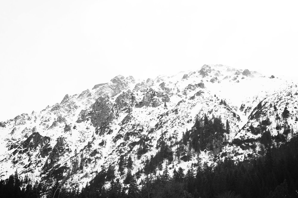 The Tatras mountains of Poland and Slovakia - covered in snow in the winter.