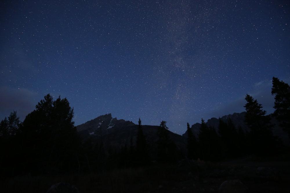 starry sky grand tetons