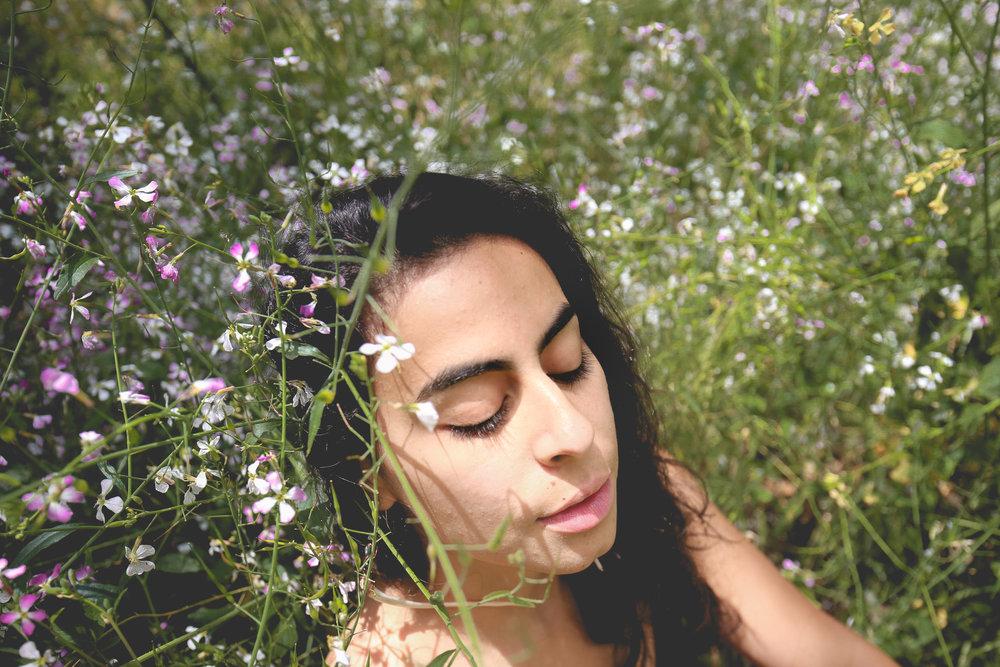 goddess-flower-portrait