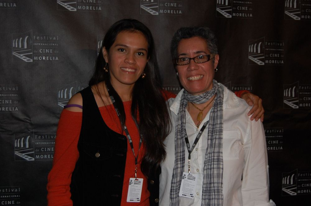 Miriam Balderas and Cristina at the Morelia International Film Festival for screening of  Despertar .