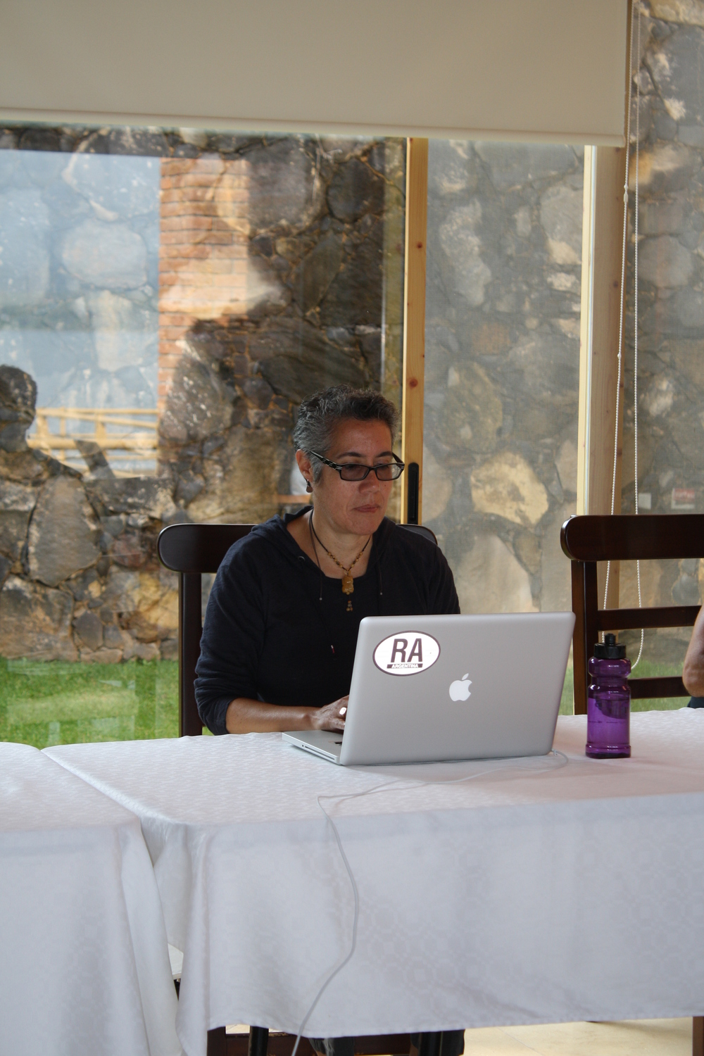 Working on script re-write at Cine Qua Non Lab Writer's Residency in Morelia, México.