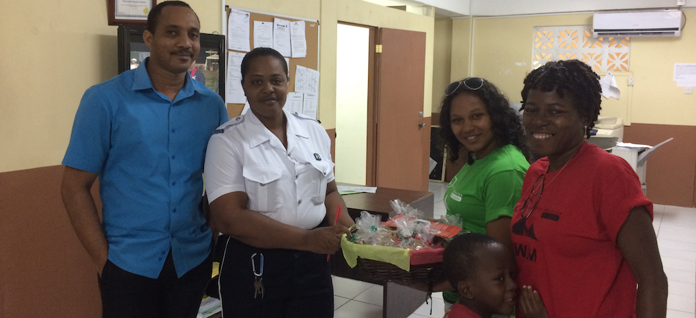 CHRISMAS COOKIES PRESENTED AT THE GROS ISLET POLICE STATION