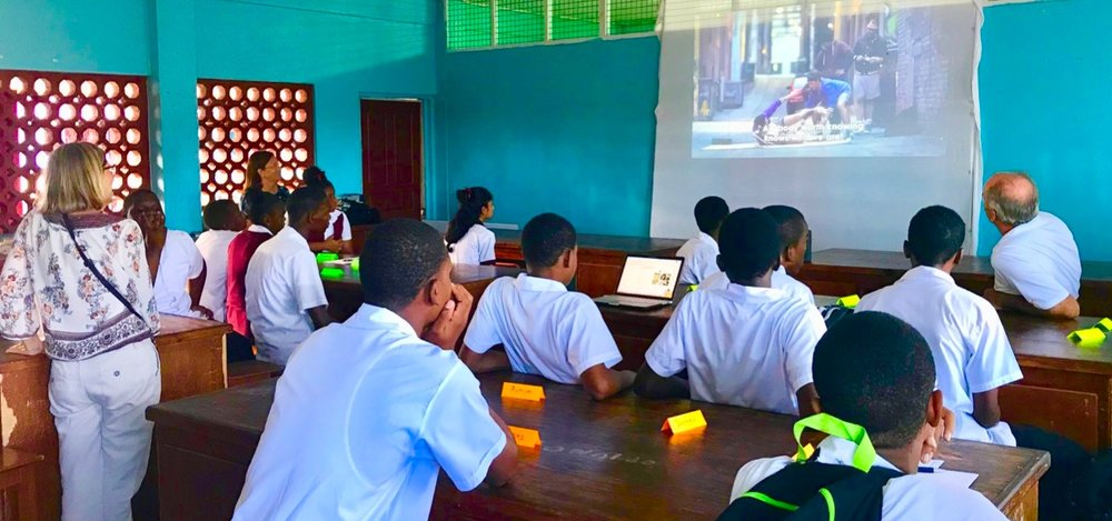 Alpha session in the school with YWAM SL