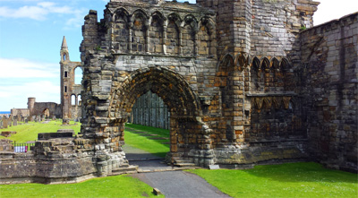 Ruins of St. Andrews Cathedral built in 1158.