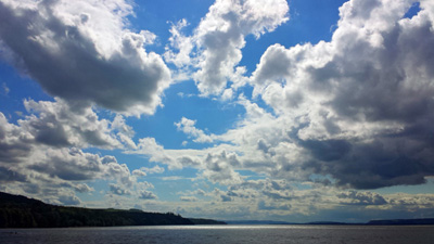Sky over the River Tay