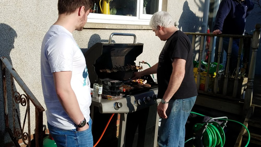 The Guys manning the grill
