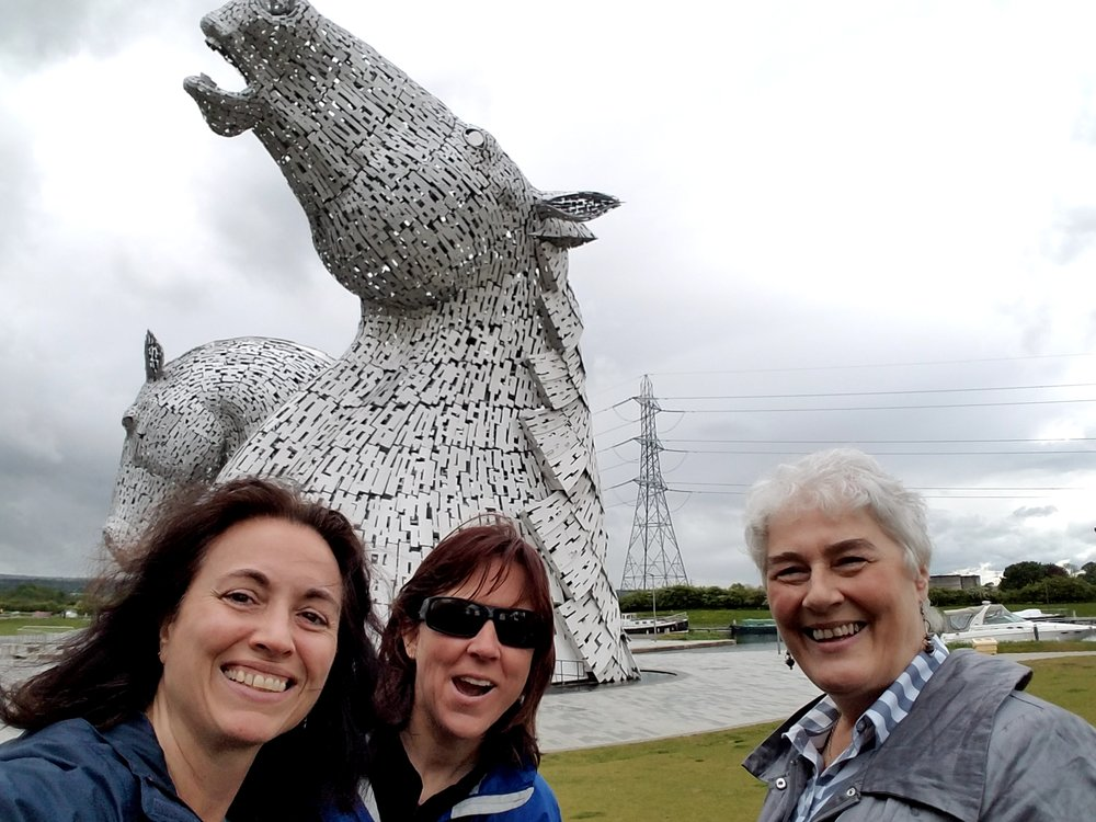 At the 100' Kelpies with Lyn