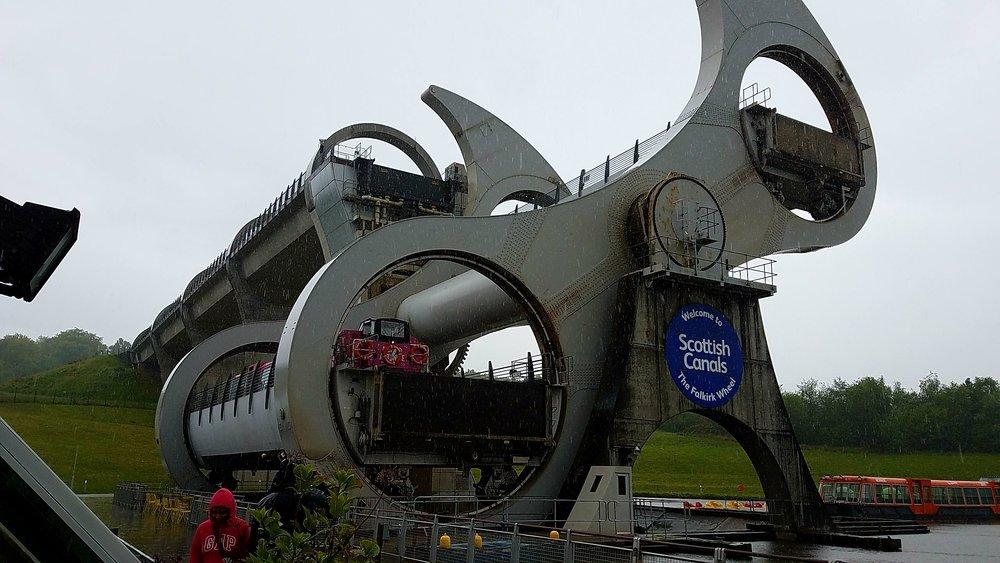 Falkirk Wheel - an engineering masterpiece
