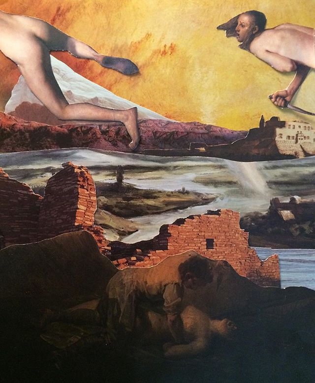 Orestes pursued by the furies #collage #collageart #collageartist #collageoftheday #cutandpaste #papercollage #analogcollage #scifi #mythology #visualart #graphicdesign #painting #surrealism #americanart #handmadeart  #handmade #seattleart #contemporaryart #c_expo #collagecollectiveco  #artwork #arthistory #workonpaper #cutart #paperart #instaart #artstagram #art #abstractart