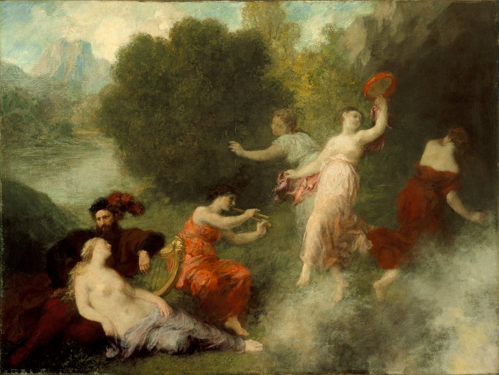 Henri Fantin-Latour (France, Grenoble, 1836-1904): Tannhäuser on the Venusberg. Courtesy of the Los Angeles County Museum of Art - corresponds to Wagner-Liszt  Overture to Tannhauser  on the CD.