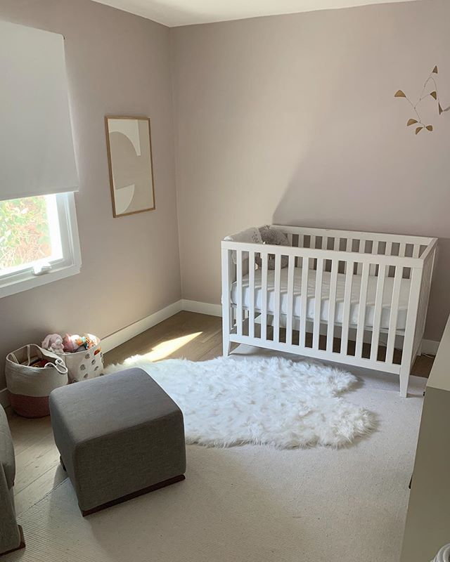 Progress shot of our Scandinavian nursery project - muted pink walls is the way to go! . . . . . . #interiordesigner #igdaily #nursery #nurserydecor #scandinaviandesign #nurseydesign #girlsroom #newyork #losangeles #2019 #design #tile #work #insta #interiordesign #simplicity