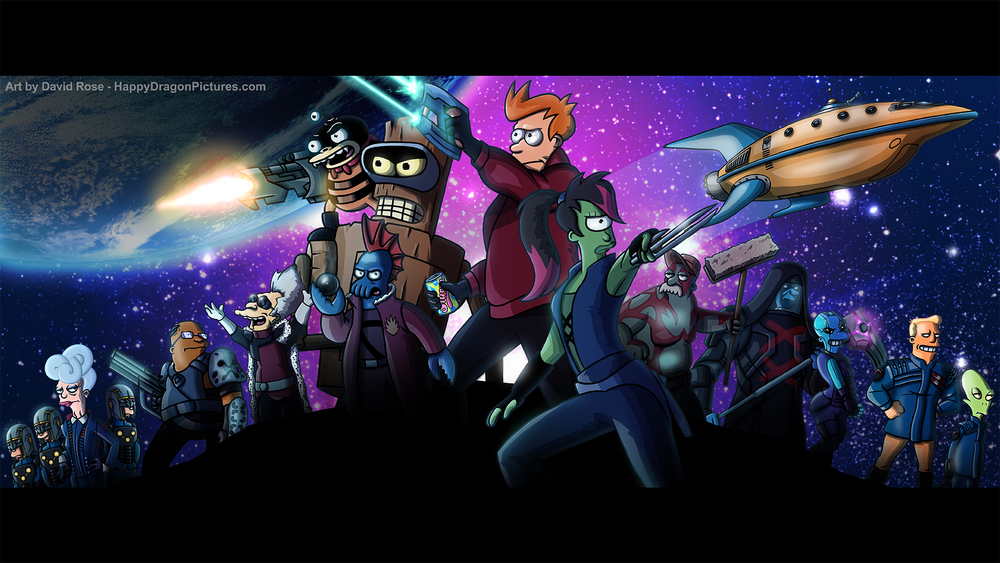 Guardians of the Galaxy + Futurama = Guardians of the Future!