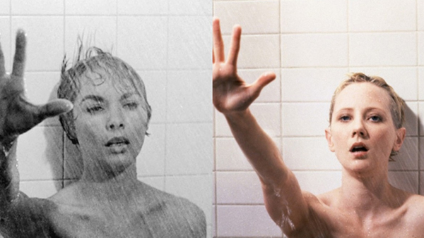 Left: Janet Leigh in  Psycho (1960)  Right: Anne Heche in  Psycho (1998)