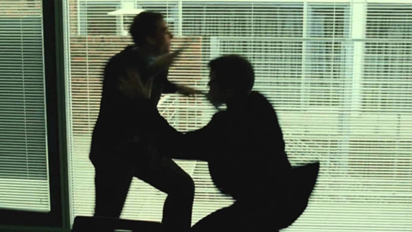 Even in this frame from The Bourne Supremacy, it's still impossible to decipher this fight.