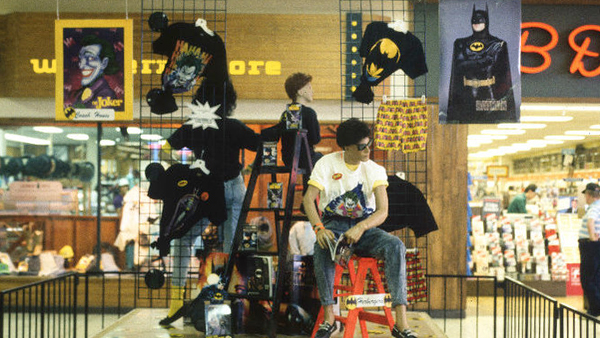 A Batman merchandise display in an old indoor shopping mall…does it get any more '80s than this? (Photo by Michael Galinsky)