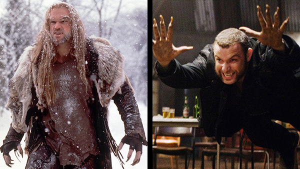 Tyler Mane (left) was a one-dimensional, brutish monster.  Liev Schreiber (right) had greater characterization, but was nowhere near as intimidating.