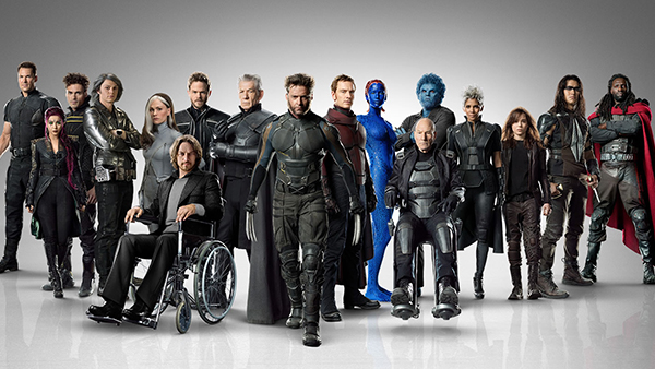 The impressive cast of mutants from both timelines.
