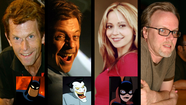 Left to right: Kevin Conroy, Mark Hamill, Tara Strong, and Batman: The Animated Series co-creator/Batman: The Killing Joke executive producer Bruce Timm have all had long, extensive careers shaping the animated world of Batman, and now with The Killing Joke, they find themselves once again drawn together.