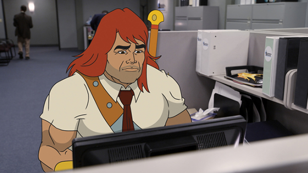 Zorn (Jason Sudeikis) isn't made for a desk job.
