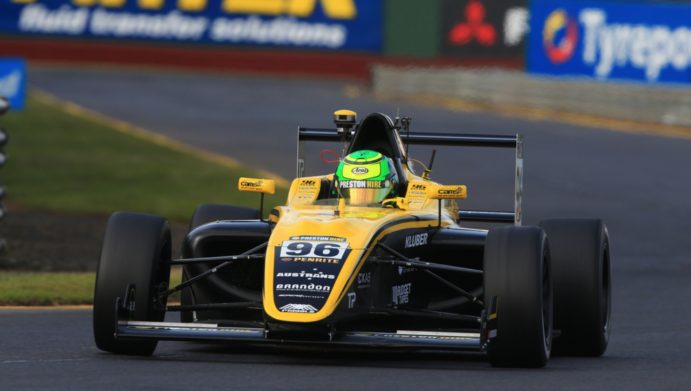 Luis storms to second place during Round 4 at Sandown    pic supplied F4