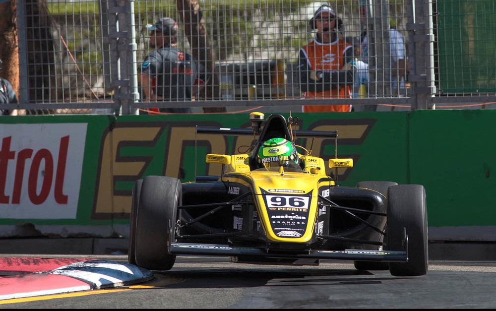 Preston Hire driver Luis Leeds was the unlucky bystander, during an incident-filled first race of the weekend at Round 7 of the CAMS Jayco Australian Formula 4 Championship at Homebush, with the race ending under the Safety Car. - pic supplied by F4