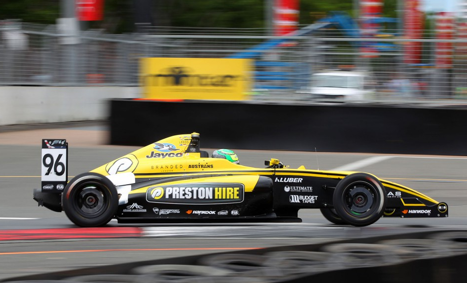 Luis Leeds flies in race 2 at Homebush   - pic supplied by F4