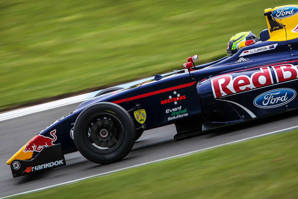 Luis Leeds is seen in his Red Bull Junior Team Arden F4 car