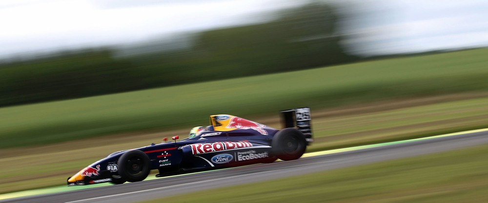Red Bull Junior Team driver Luis Leeds is seen in his British F4 at Croft