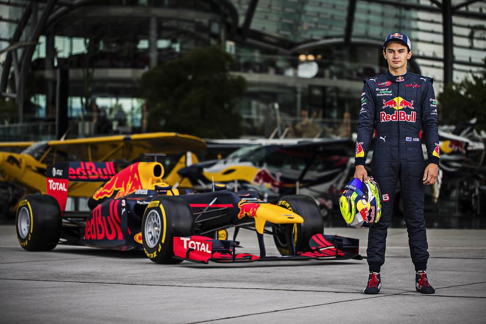 Red Bull Junior Team member Luis leeds