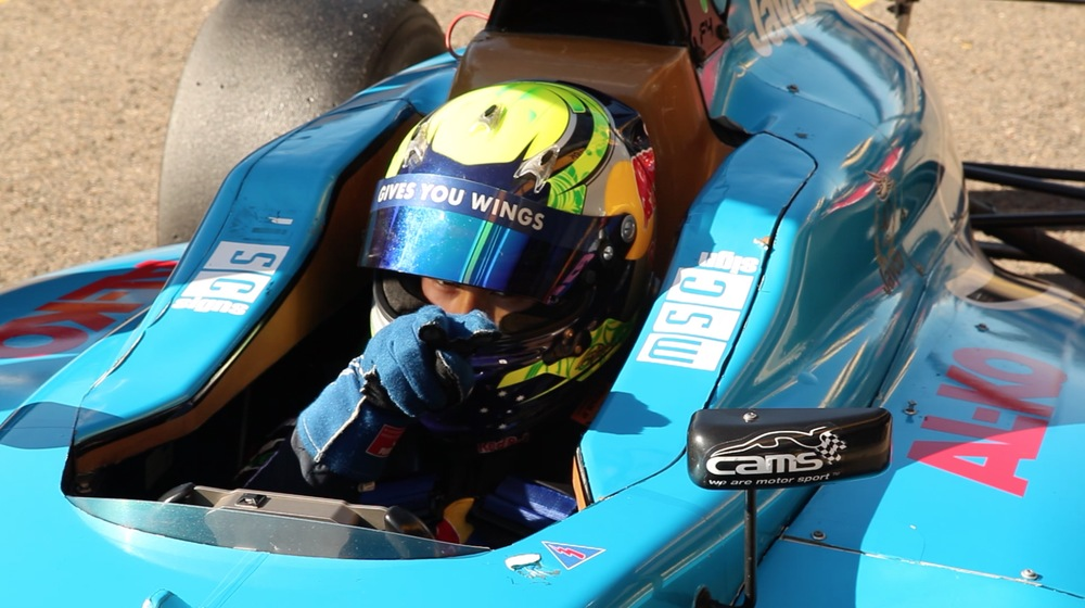 Luis is seen in his DREAM Motorsports prepared F4 car at Sydney