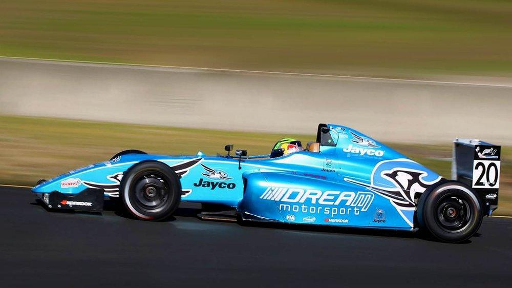 Luis Leeds is seen the DREAM Motorsport F4 car