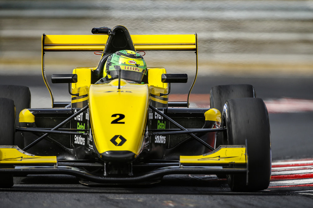 Luis Leeds is seen during round 5 of the 2017 Eurocup Formula Renault 2.0 at the Hungaroring in Hungary.