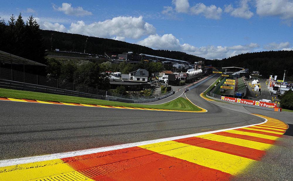 Spa circuit's Eu Rouge corner
