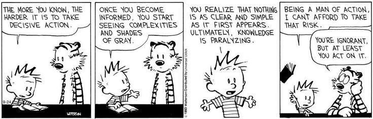 One thing I love about Calvin is that no matter how bad his point is, he always makes it convincingly.
