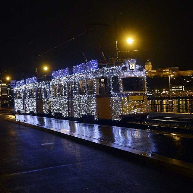 #christmas #tram in Budapest. Thanks for photo for Illyes Tibor. #travel #Budapest #hungary