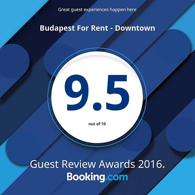 So proud of our fant­astic review score on @bookingcom! #guestsloveus #budapest #travel #localexperience #hungary #citybreak