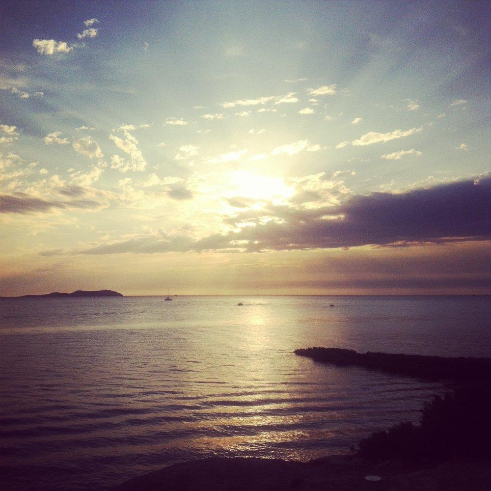 Ibiza Beach Sun Set