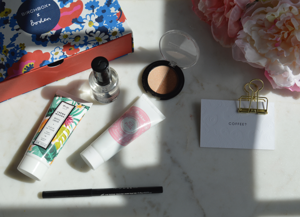 April Birch Box with Boden Clothing