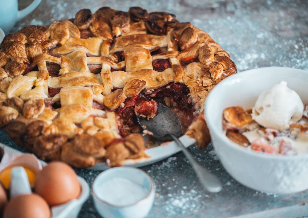 The Lincolnshire Chef Recipe, Strawberry, Rose and Rhubarb Pie