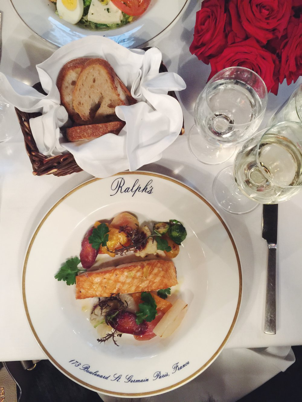 Pan Roasted Salmon at Ralph's in Paris. Ralph Lauren Restaurant Paris