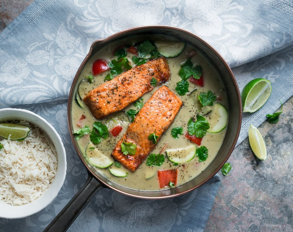 BigFish Brand Food Stylist - Thai Curry with Salmon