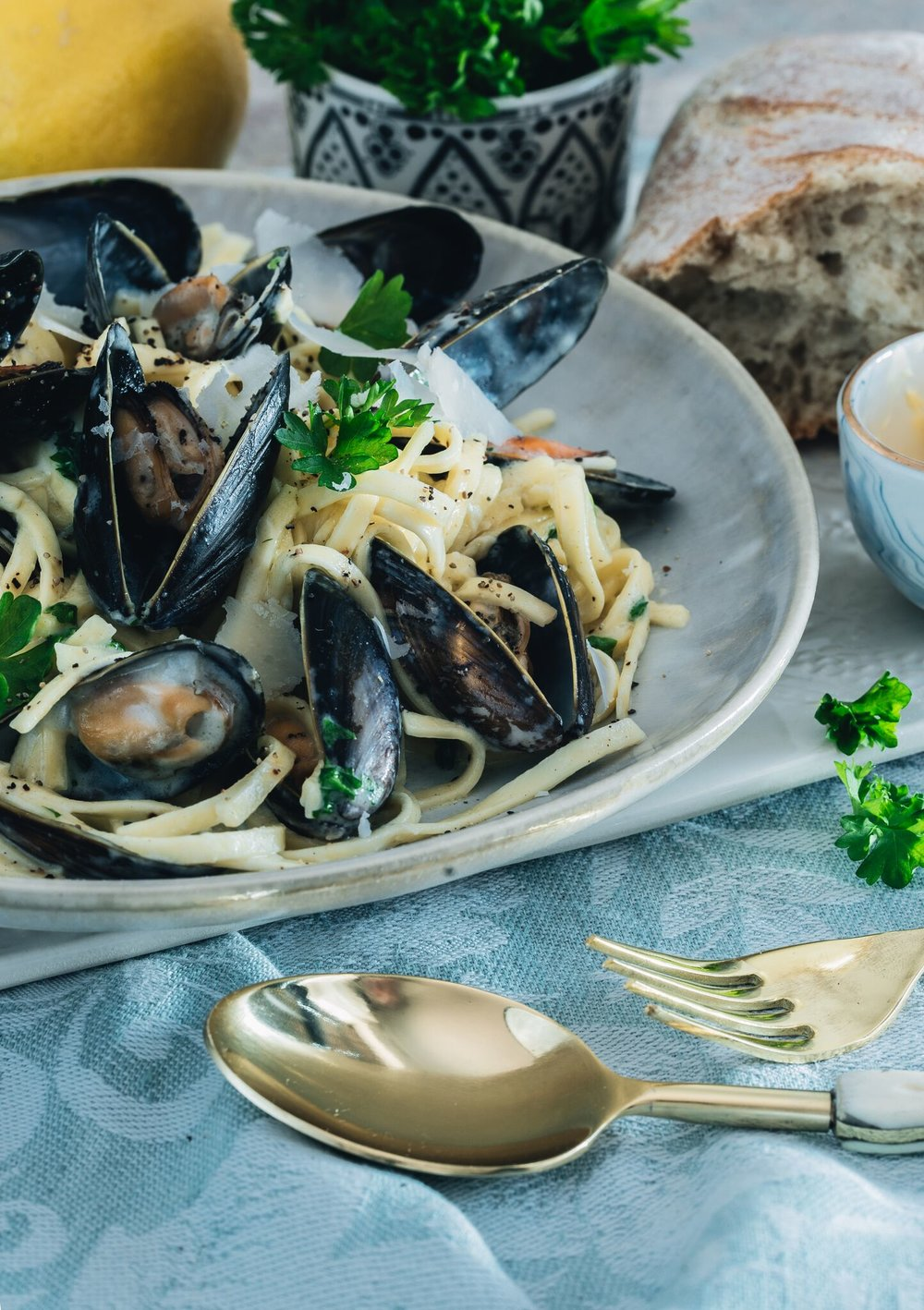 The Creative Larder Food Stylist Mussel Linguine