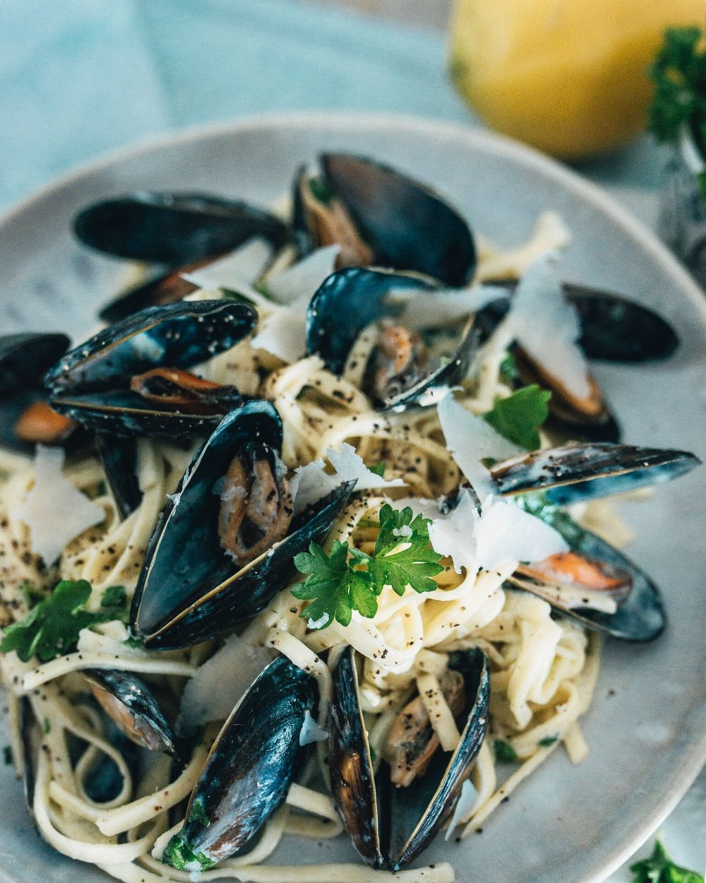 Smeg's Montecoppe Parmigiano Reggiano cheese Mussel Linguine The Creative Larder Food Blog