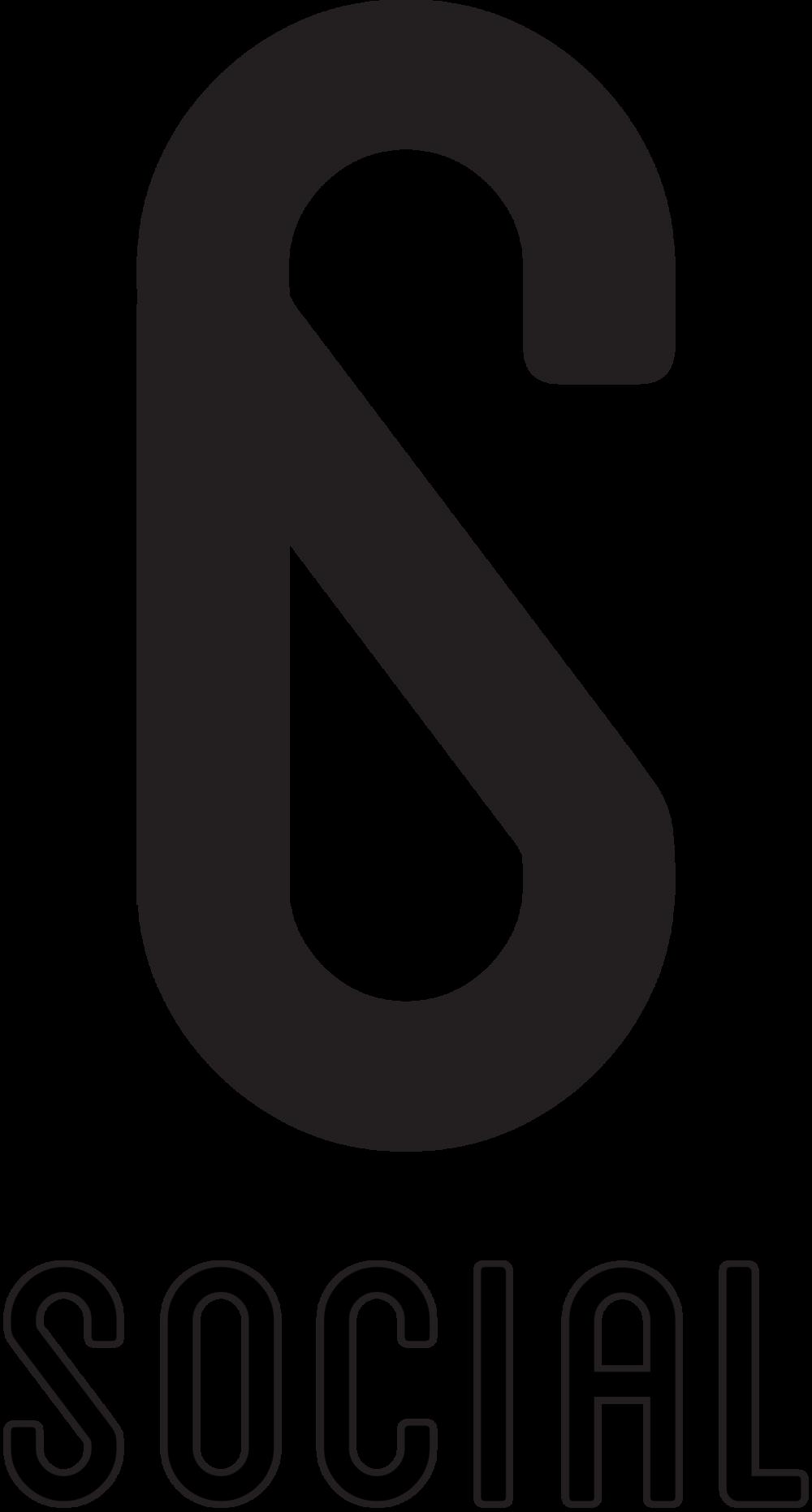 6 Social Logo Black