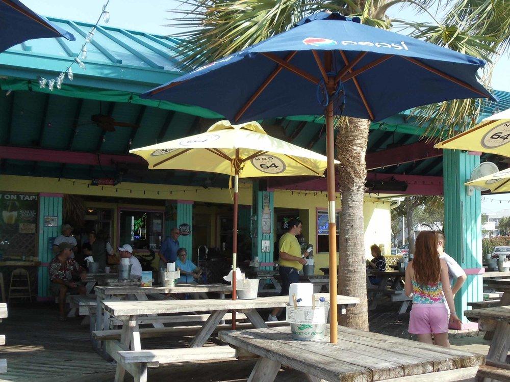 Tables at Sam's Beach Bar