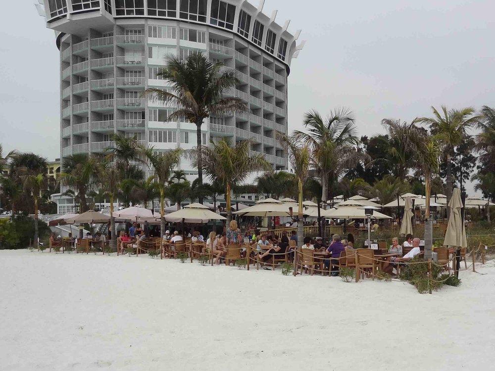 bongos entrance on beach
